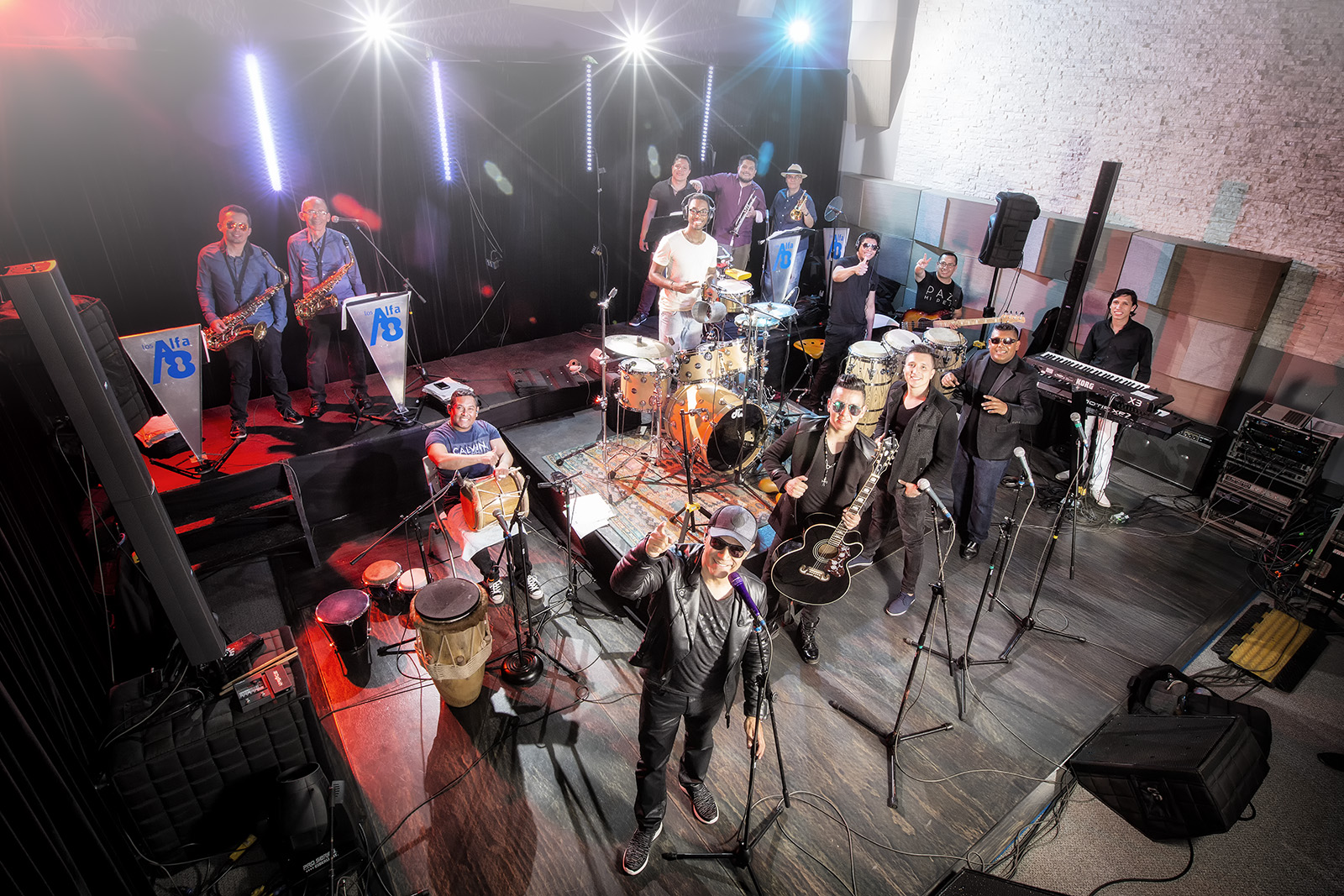 LOS ALFA 8 EN MUSICTIMESTUDIOS