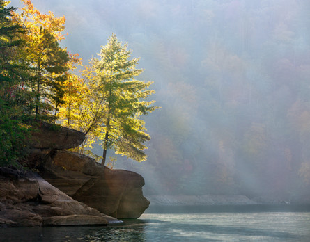 Autumn Morning on Jocassee