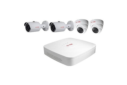INAXSYS-ICT SECURITY SYSTEMS | INSK44CV1TEB | 4-CH IP Camera Kit