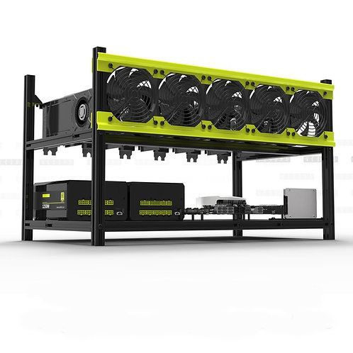 Professional 6 GPU Miner Case Stackable Mining Case Rig Open Air Frame