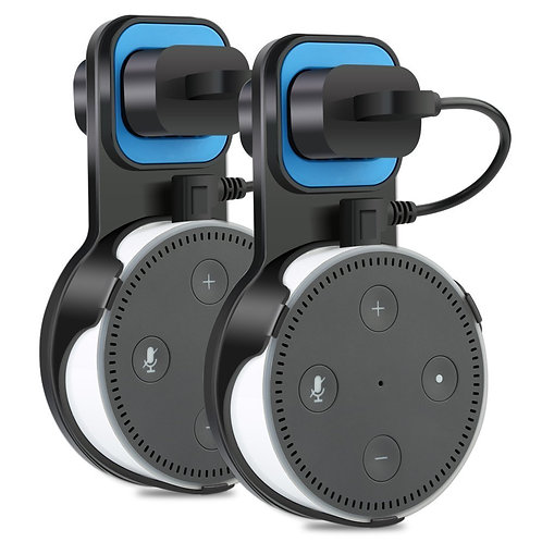 Echo Dot Holder, TUTU TECH Essential Outlet Wall Mount Hanger Stand for Amazon E