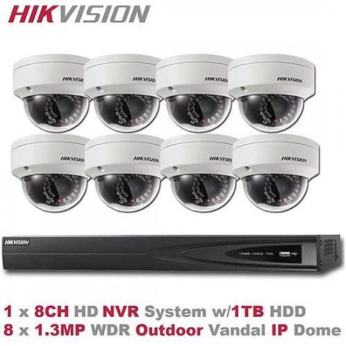 HIKVISION 8CH 1.3MP IP Camera PoE NVR System