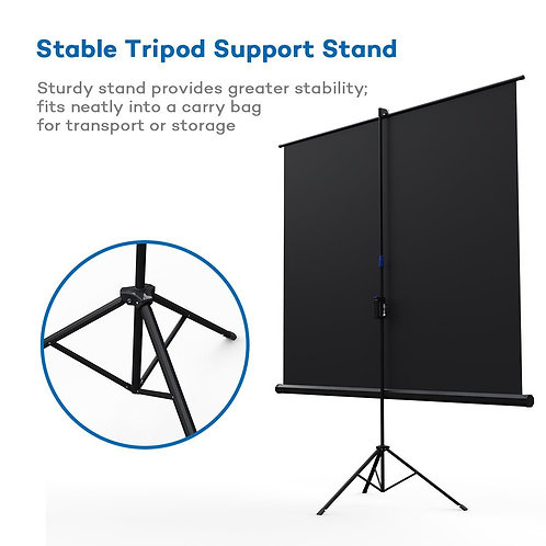 Projector Screen with Stand, TaoTronics Indoor and Outdoor Movie Screen 100 Inch
