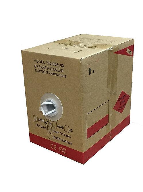 500FT Oxygen Free Pure Copper 18/2 Bulk Speaker Wire
