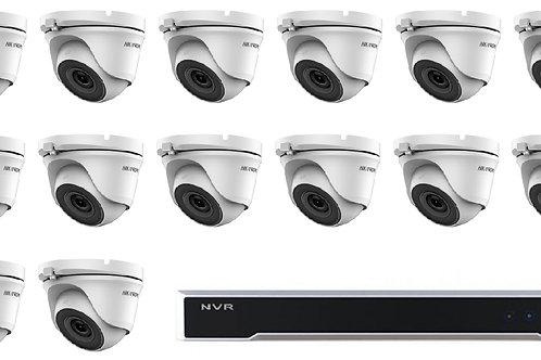 HIKVISION|16 CH NVR | x14 IP 1080P Turret Dome Camera Kit