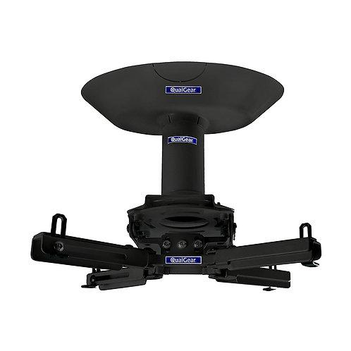 "QualGear Pro-AV QG-KIT-CA-3IN-B Single Joist Ceiling Adapter, 3"" 1.5"" Projector"