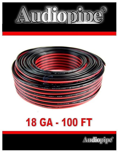 Audiopipe 100' Feet 18 GA Gauge Red Black 2 Conductor Speaker Wire Audio Cable