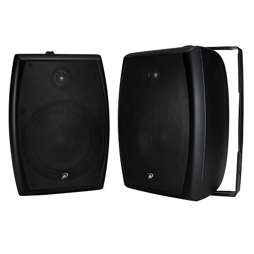 "Dayton Audio IO655BT 6-1/2"" 2-Way 70V Indoor/Outdoor Speaker Pair Black"