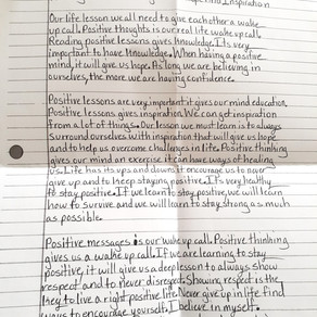 Poetry: Reading Positive Messages Gives Hope and Inspiration by Nathaniel Jacobs
