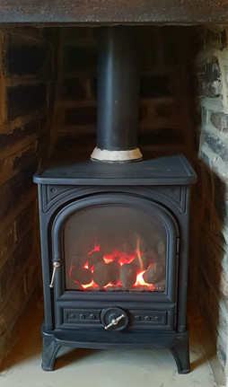 Esse gas stove for a cosy evening in at