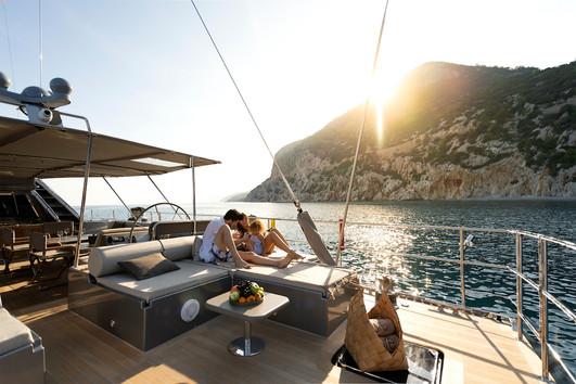 After Deck Sunbed - Ocean Pure - St Bart