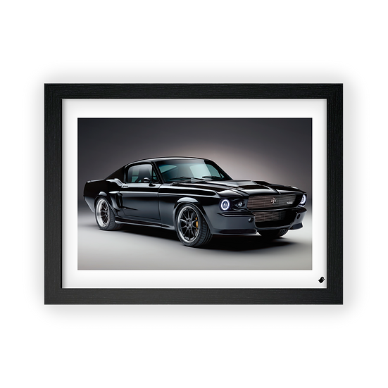 Poster / Quadro Ford Shelby Mustang Fastback Custom