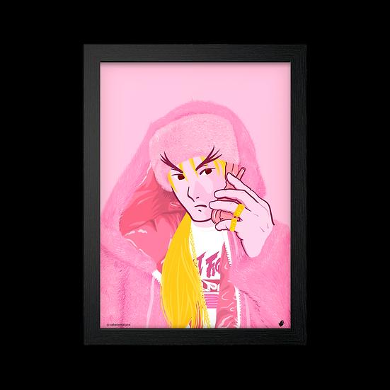 Poster / Quadro Killa Ken X @cabelomaluco