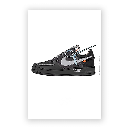 Nike Air Force 1 Off White Preto