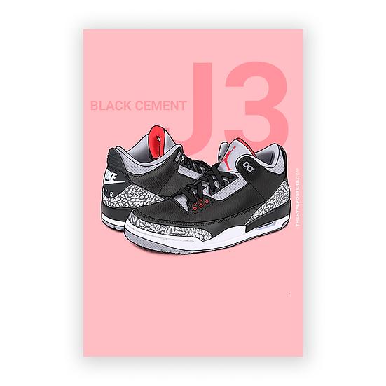 Nike Air Jordan 3 Black Cement 2
