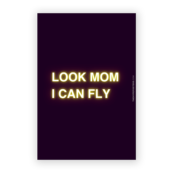 Poster Travis Scott - Look Mom I Can Fly