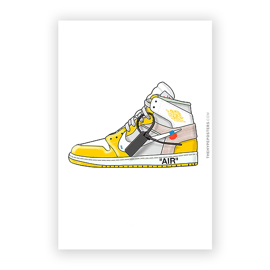 Nike Off White Canary Yellow