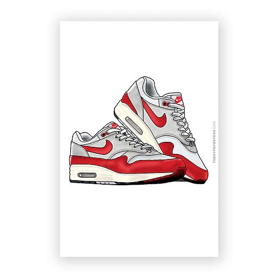 Nike Air Max 1 Red 3