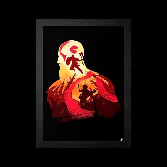 Poster / Quadro Silhueta Kratos God of War