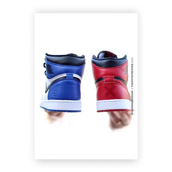 Nike Air Jordan 1 Red Blue Jumpman Rotation