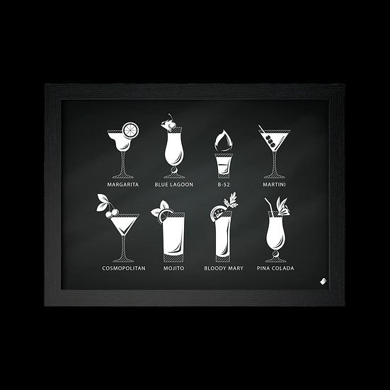 Poster / Quadro Drinks famosos