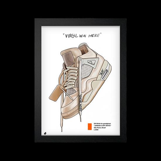 "Poster / Quadro NK Jordan 4 OW ""Sail"""