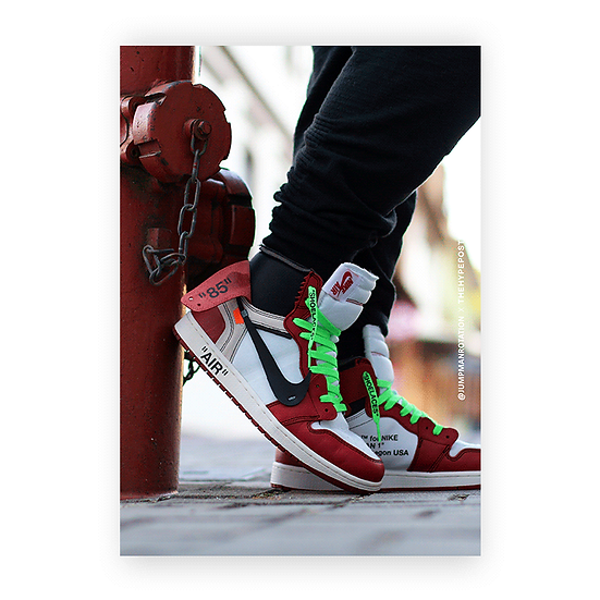 Nike Air Jordan 1 Chicago Off White Jumpman Rotation