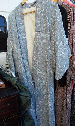 Grey/blue kimono