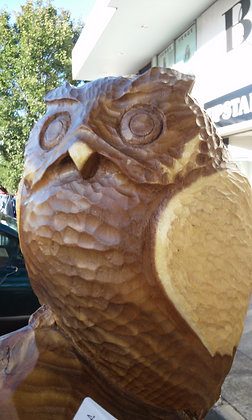 Hand Carved Owls