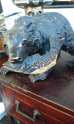 Bear Holding Fish
