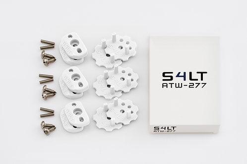 3x S4LT- ATW 277 - White (Anti- Twist- Washer), Verdrehschutz für Fußschlaufen