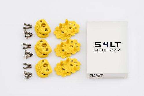 3x S4LT- ATW 277 - Yellow (Anti- Twist- Washer), Verdrehschutz für Fußschlaufen