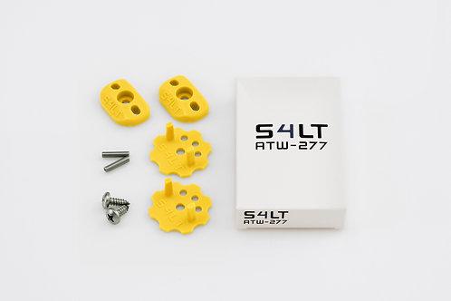 1x S4LT- ATW 277 - Yellow (Anti- Twist- Washer), Verdrehschutz für Fußschlaufen
