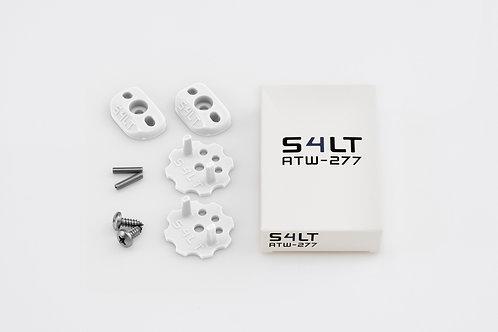 1x S4LT- ATW 277 - White (Anti- Twist- Washer), Verdrehschutz für Fußschlaufen