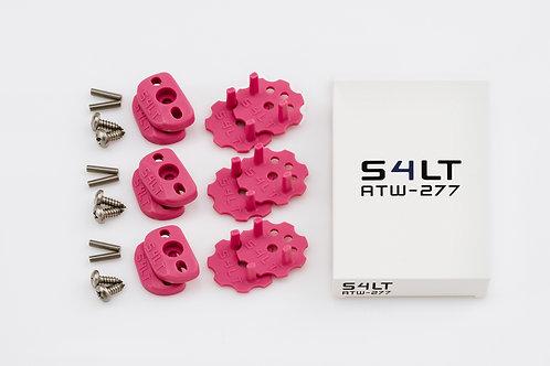 3x S4LT- ATW 277 - Pink (Anti- Twist- Washer), Verdrehschutz für Fußschlaufen