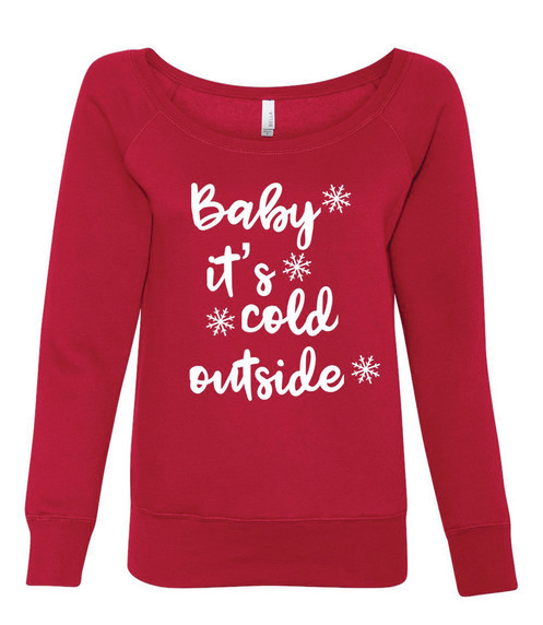 4fba6204b98 Christmas Off the Shoulder sweatshirt