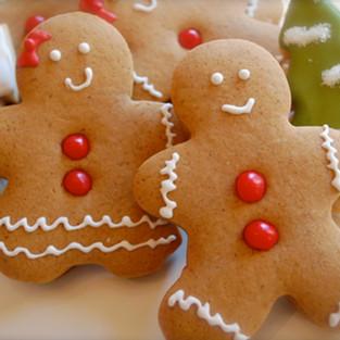 Half-Sugar Festive Gingerbread Shapes