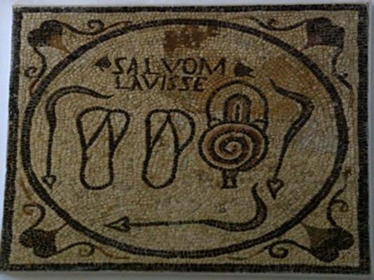 mosaïque bains romains antiques