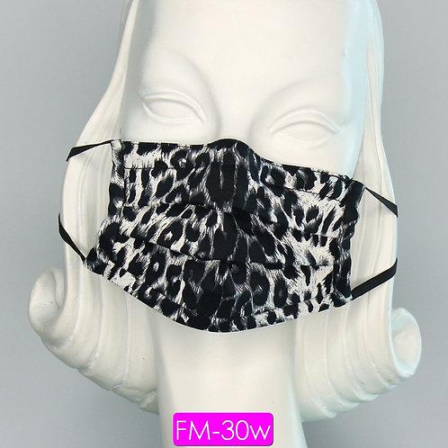 Face Mask - Leopard Black