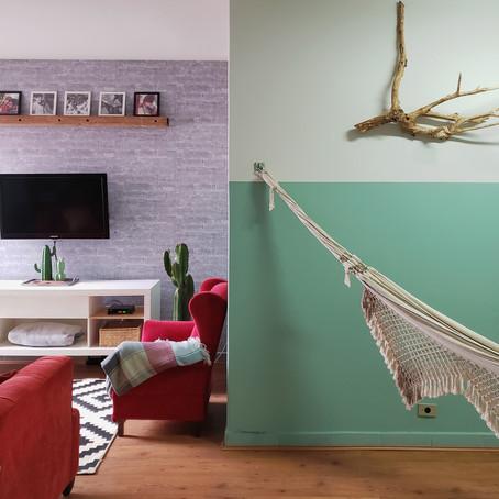 Decoração afetiva neste apartamento alugado com jeito de casa