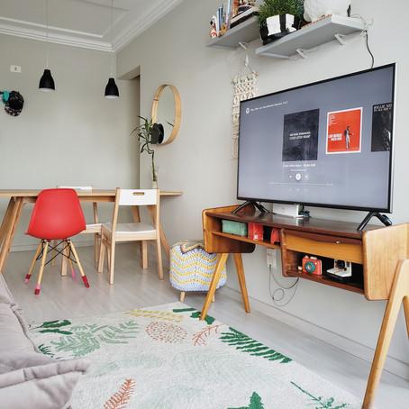 Muita criatividade e cor neste alugado de 80 m² em Curitiba/PR