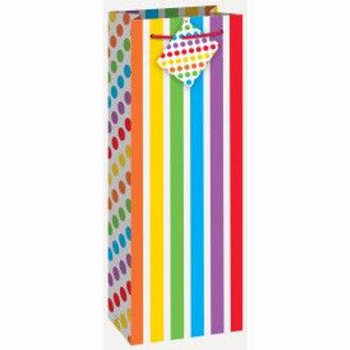 Bag Wine Stripe Rainbow