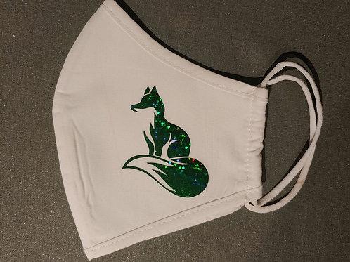White  Mask w green fox
