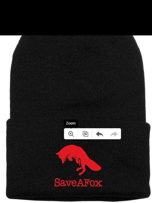 SaveAFox Hat Black***Limited Supply