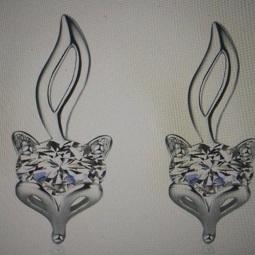 Small Fox stud earrings