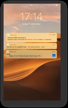 OurLiving-Push notiser
