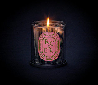 Dancing Ovals - Night Visual - Rose Candle