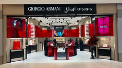 Armani Beauty opens first stand-alone store in Saudi Arabia, in Red Sea Mall Jeddah.