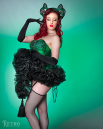 """""""She brings a beautiful quality of vulnerability and polish to her acts, engaging audiences by inviting them to lose themselves in her reincarnation of vintage showgirl burlesque."""" - Trixie Blue, Principal Enchantress at House of Trixie Blue 2019"""