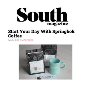 Springbok Coffee featured in South Magazine